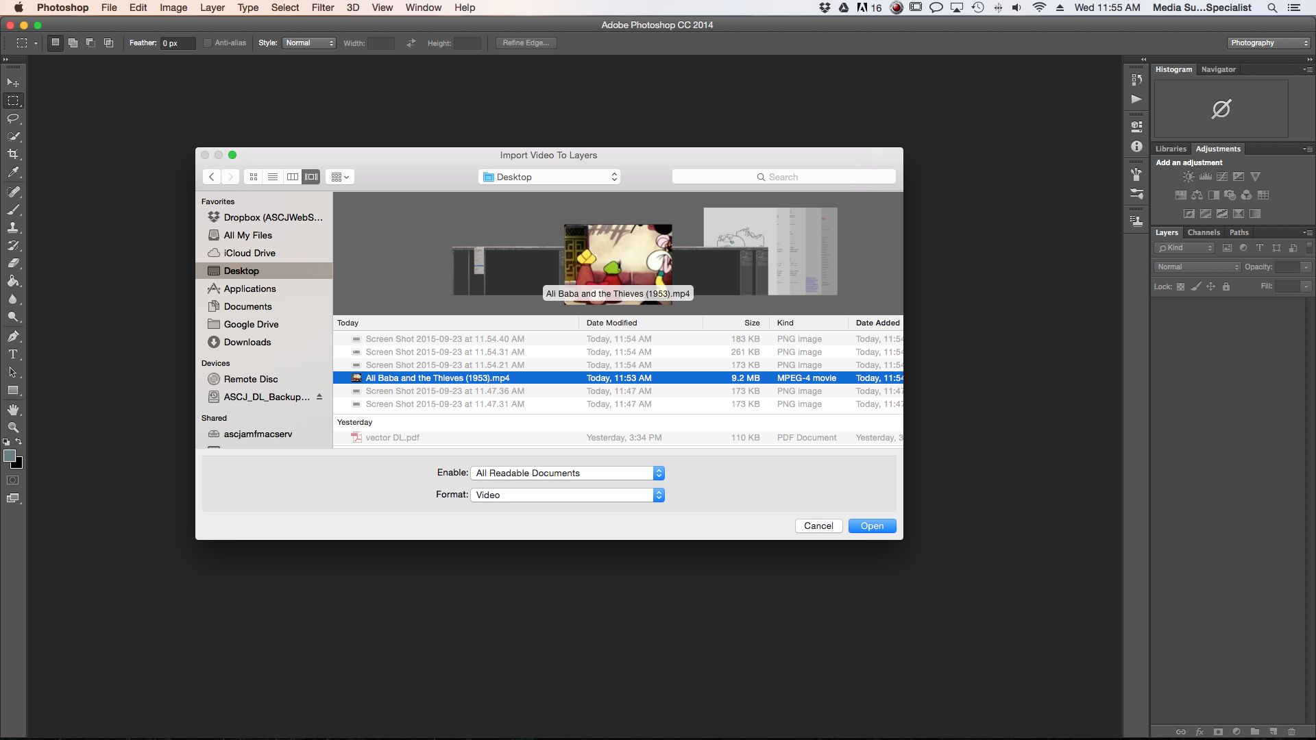 Adobe Photoshop: Creating  GIFs From Video Files – Annenberg