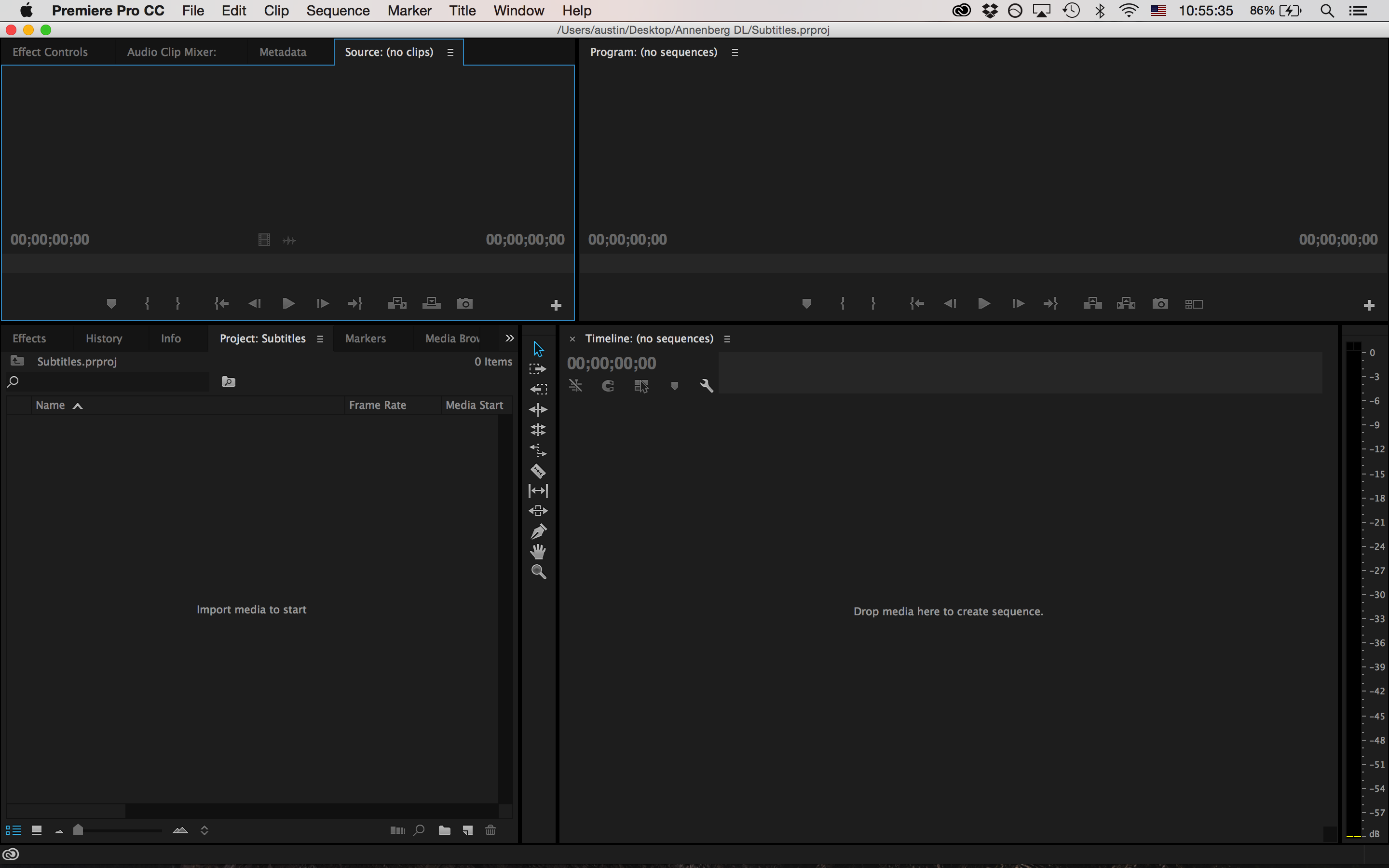 Adobe premiere adding subtitles to video for social media screen shot 2015 09 28 at 105535 am ccuart Image collections