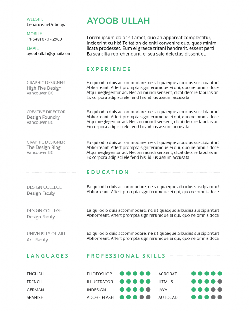 Screen Shot 2016 03 20 At 4.21.28 PM  Resume In Indesign