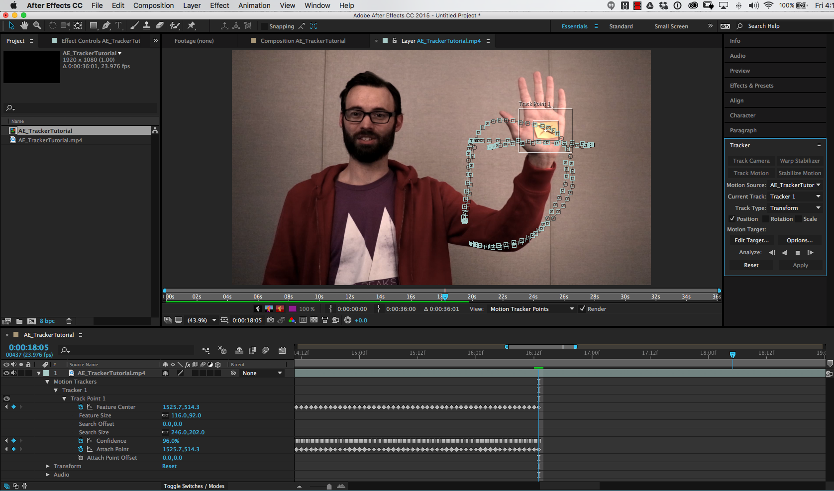 Using the motion tracker in after effects annenberg digital lounge set the options let after effects work once your tracker baditri Choice Image
