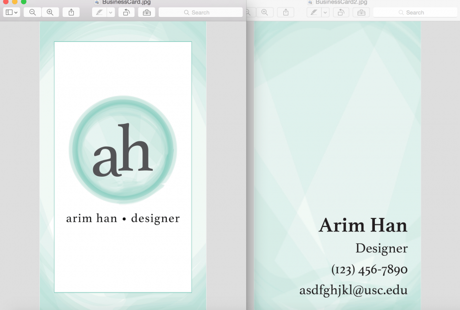 Creating a business card in indesign annenberg digital lounge reheart Gallery