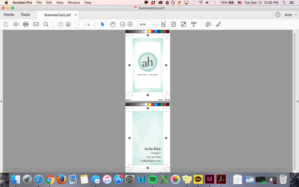 Creating a Business Card in InDesign – Annenberg Digital Lounge